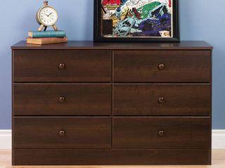 Bella 6 Drawer Dresser  Espresso  Retail 219 99