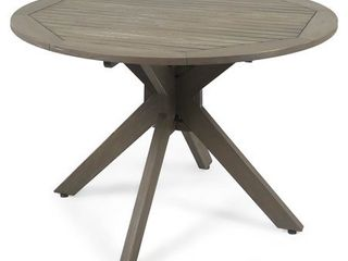 Stamford Outdoor Acacia Wood Round Dining Table by Christopher Knight Home  Retail 333 49