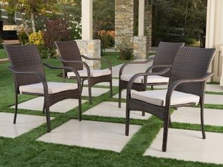 San Pico Outdoor Wicker Stacking Chairs  Set of 4  by Christopher Knight Home  Retail 458 49