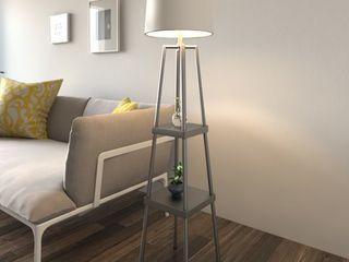 Carbon loft Gallatin lighting 3 way 58 inch Distressed Iron Etagere Floor lamp