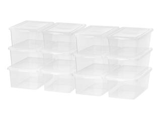 IRIS 17 qt  Clear Plastic Storage Bin  Case of 12