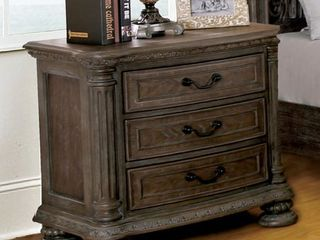 Furniture of America Brey Traditional Brown Solid Wood Nightstand  Retail 553 49