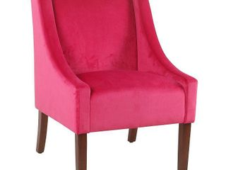 Homepop Modern Velvet Swoop Arm Accent Chair  Retail 175 99