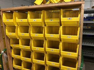 25  large Yellow Storage Bins
