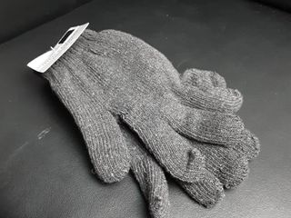Men s Gloves Heavy Knit grey