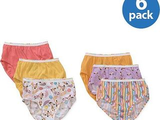 Hanes Girls Brief Underwear  6 Pack Panties Sizes 6   16