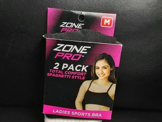 Zone Pro 2 Pack Total Comfort Sports Bras Size Medium Free Shipping
