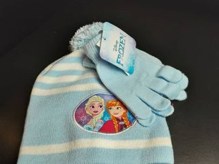 Disney Frozen Elsa Blue puple Beanie Hat Ages 4 8   Without Tags