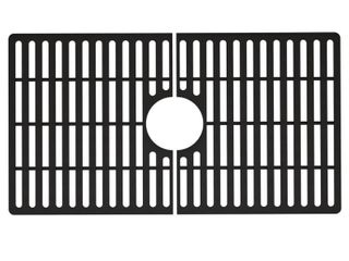 Vigo 27 In X 15 In Matte Black Silicone Kitchen Sink Protective Bottom Grid For Single Basin 30 In Sink