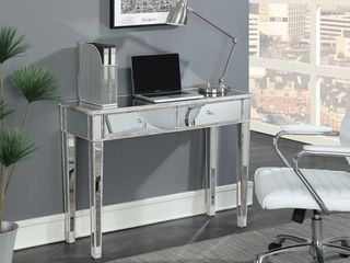 Silver Orchid Talmadge Mirrored Desk Vanity  Retail 273 99