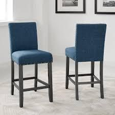 round hill furniture set of 2 counter stool blue
