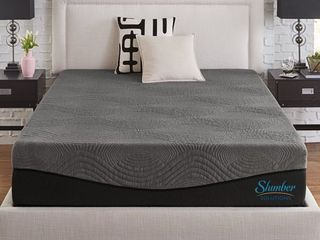Slumber Solutions Active 14 inch Charcoal Memory Foam Mattress  Retail 739 99