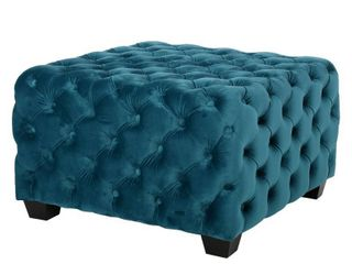 Jaymee Button Tufted Velvet Ottoman by Christopher Knight Home  Retail 189 99