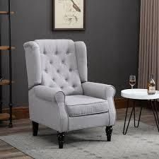 Copper Grove Guanta Tufted Accent Chair with Wooden legs  Retail 213 99 cream