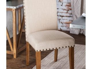 Furniture of America Aralla Upholstered Dining Chair  Set of 2  Retail 209 49