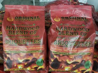lot  20  Bags Original Natural Charcoal Hardwood Briquettes 100  Premium All Natural Pillow Shaped Charcoals   lights Easy  Burns Quickly  Adds Extra Flavor to Meats   100  7 07 lb