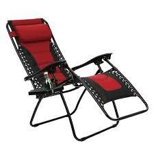 Kaimana Red Padded Zero Gravity Reclining Foldable lounge Chair by Havenside Home  Retail 98 99