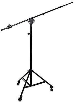 lyxPro SMT Professional Microphone Stand Heavy Duty 90  Studio Overhead Boom Stand with Rooling Casters with Tripod legs Retail   109 99