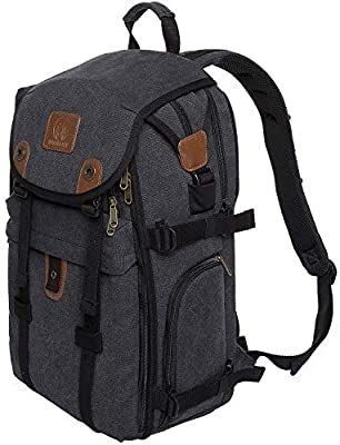 21  Dslr Camera Backpack Canvas Camera Bag With Rain Cover For Cameras lenses