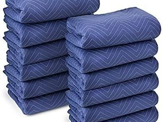 Sure Max 12 Moving   Packing Blankets   Deluxe Pro   80  x 72   40 lb dz weight    Professional Quilted Shipping Furniture Pads Royal Blue