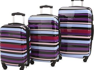 3 Pc luggage Set Durable lightweight Hard Case Pinner Suitecase lug3 Pc76 line 2 Retail   102 99