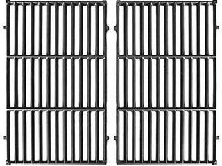 Hongso 7524 Cast Iron Cooking Grid Grates Replacement for Weber Genesis E S  300 Series Gas Grill 7528   19 5  x 13  2 Pack  PCG524