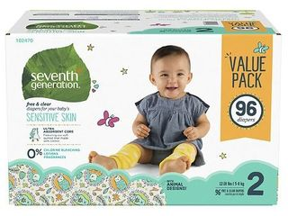 Seventh Generation Free   Clear Diapers Size 2   96ct