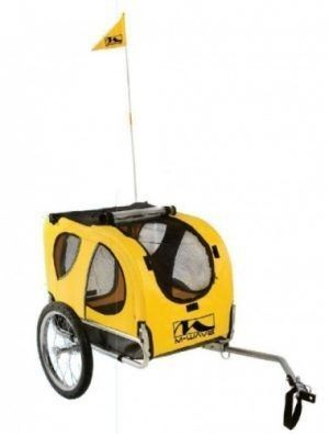 M wave Fietsaanhanger Hond 16 Inches Yellow Bike Trailer Retail   243 65