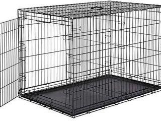 Amazonbasics Single door Folding Metal Dog Crate  Black  48 inch