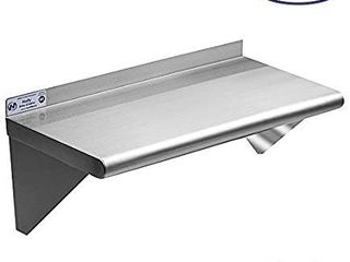 Stainless Steel Shelf 12 x 24 Inches  230 lb  Commercial NSF Wall Mount Floating Shelving for Restaurant  Kitchen  Home and Hotel