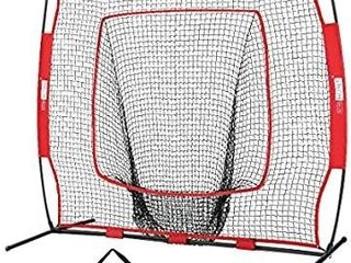 VIVOHOME 7 x 7 Feet Baseball Backstop Softball Practice Net with Strike Zone Target and Carry Bag for Batting Hitting and Pitching