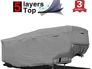 RVMasking Heavy Duty 5 layers 5th Wheel Cover  Fits 31 1 34  RVs   Breathable Waterproof Ripstop Anti UV RV Cover