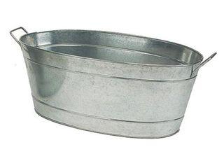 30 5  large Oval Galvanized Tub Steel   ACHlA Designs