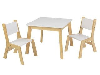 3pc Modern Table and Chair Set White   KidKraft