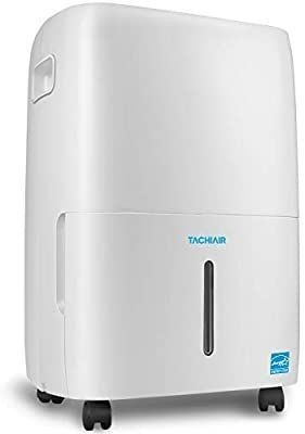 TACHIAIR 70 Pint Dehumidifier with Pump  Energy Star Rated for Basements  Intelligent Humidity Control  Effectively Remove Moisture  Auto Shutoff Restart  3 Fan Speeds and Easy Roll Wheels