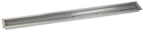 American Fireglass 72  X 6  Stainless Steel linear Drop in Fire Pit Pan