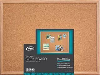 The Board Dudes Cork Board   Wood Frame 22  x 18