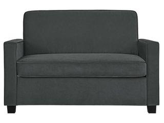 Signature Sleep Casey Twin Sofa Bed in Velvet  Gray
