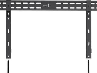QualGear QG TM 002 BlK 37 Inch to 70 Inch Universal Ultra Slim low Profile Fixed Wall Mount lED TVs  Black