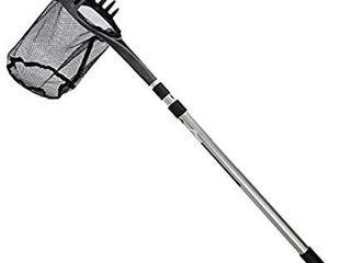 Aquascape 74005 Pond Shark Net Skimming  Maintenance and Water Garden Tool  96 inch  Gray