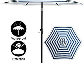 TAGI 7 5 feet Hand Shake Outdoor Patio Umbrella 6 Rib Crank lift Hand tilt