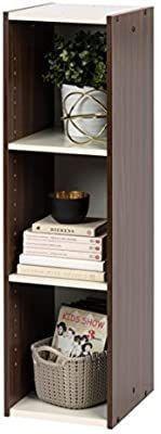 IRIS USA  Inc  Space Saving Shelf with Adjustable Shelves  10 W x 34 H  Inch  Walnut Brown