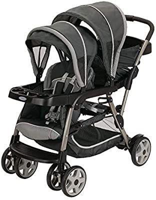 Graco Ready2Grow lX Stroller   12 Riding Options   Accepts 2 Graco SnugRide Infant Car Seats  Glacier