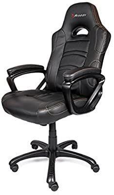 Arozzi Enzo Series Gaming Racing Style Swivel Chair  Black