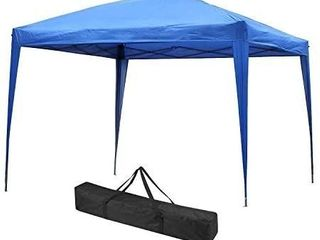 Outdoor Basic Pop up Canopy Party Tent Instant Gazebos with 4 Removable Sidewalls Blue