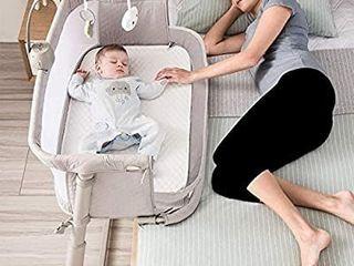 Kidsclub Baby Bedside Sleeper  Baby Bedside Bassinet for New Born  Standalone Bassinet Side Sleeper for Infants  Baby Nursery Bed 9 Height Adjustable for Bed Sofa