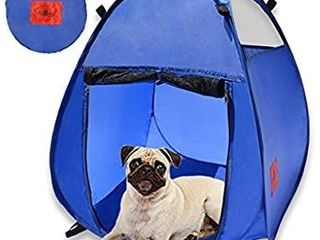 MyDeal Pop Up Pet House in a Bag for Portable Play Pen or Kennel Tent with 3 Net Windows and Zipper Door for Shade  Shelter and Safety Perfect for Dog  Cat  Rabbit   More