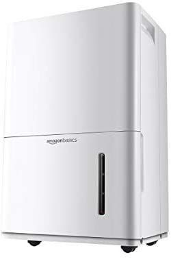 AmazonBasics Dehumidifier with Drain Pump   For Areas Up to 4 000 Square Feet  50 Pint  Energy Star Certified