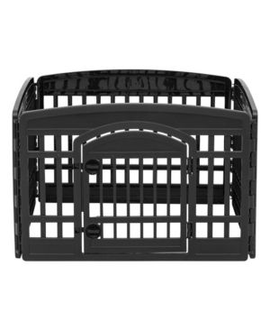 24  4 Panel Exercise Pet Playpen with Door