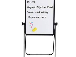 Stand White Board   40x28 Magnetic Dry Erase Board Flipchart Board Double Sided Easel Board Portable Whiteboard